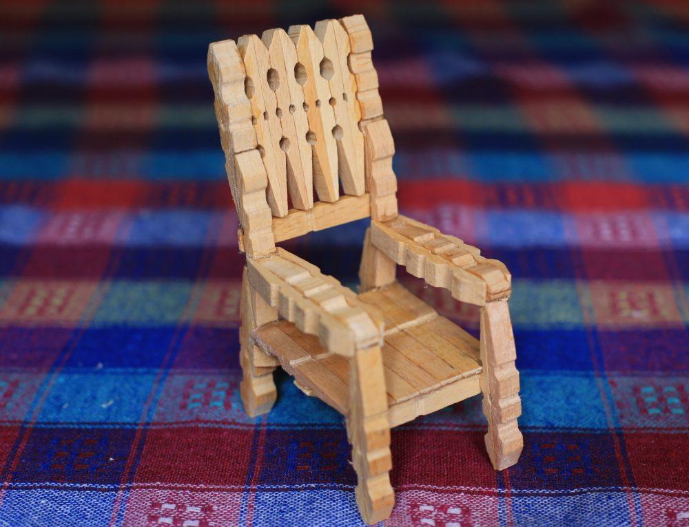 Tahta Mandallardan Sandalye Yapımı